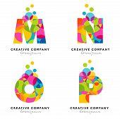 stock photo of alphabet  - Creative Alphabet Letters Logo - JPG