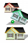 stock photo of tilt  - Home tilted by a green eight  ball - JPG
