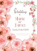picture of greeting card design  - Flower wedding invitation card save the date card greeting card - JPG