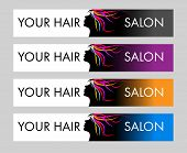 stock photo of hair cutting  - Hair Salon Logo - JPG