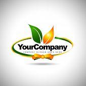 pic of food logo  - Leaf Label Logo - JPG