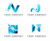 stock photo of letter n  - Letter N logo Design Concepts - JPG
