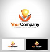 stock photo of logo  - Creative Letter V logo - JPG