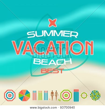 Set Of Summer Beach Icons