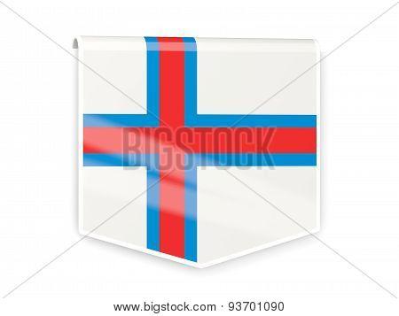 Flag Label Of Faroe Islands
