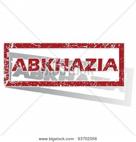 Abkhazia outlined stamp