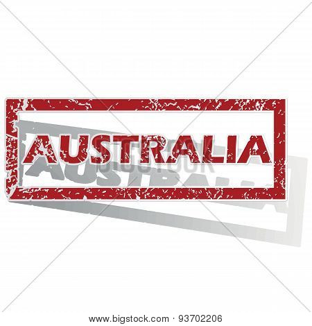 Australia outlined stamp