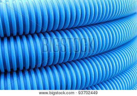Blue Hose Plastic Pipe