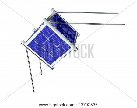 Nano Satellite Isolated On White