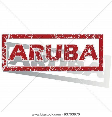 Aruba outlined stamp