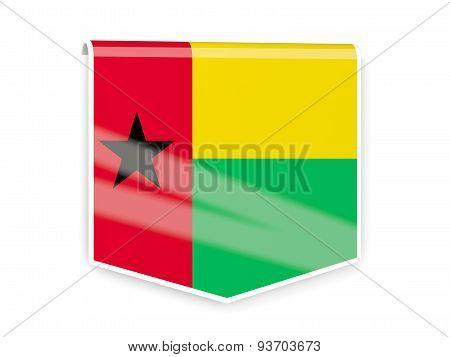 Flag Label Of Guinea Bissau