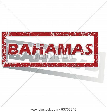 Bahamas outlined stamp
