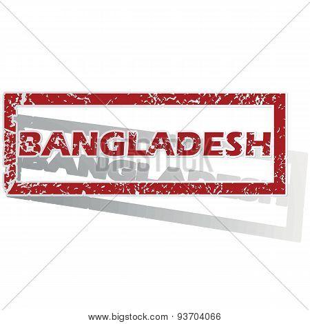Bangladesh outlined stamp