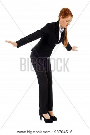 Businesswoman Falling Down