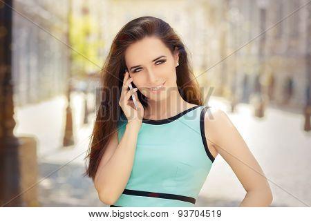 Beautiful Woman Talking on Smartphone