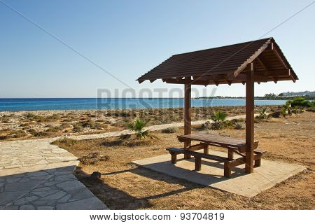 Gazebo Near The Sea