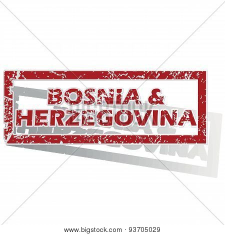 Bosnia and Herzegovina outlined stamp