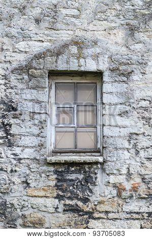 Window In Medieval  Limestone Wall