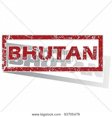 Bhutan outlined stamp