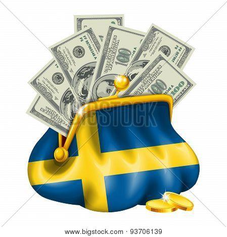 Economics and business purse Sweden
