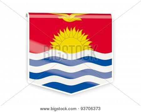 Flag Label Of Kiribati
