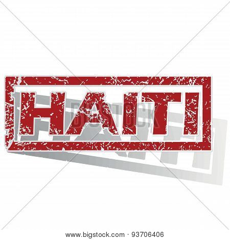 Haiti outlined stamp