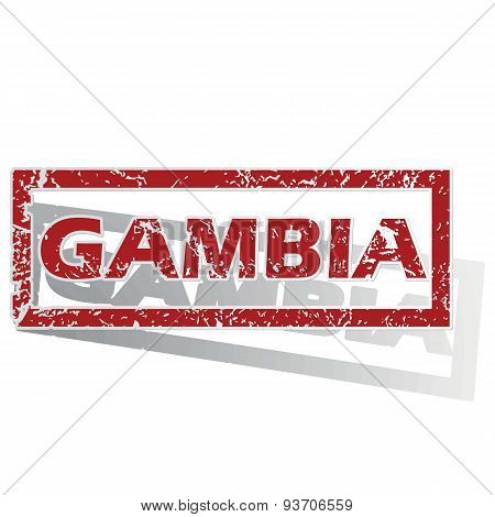 Gambia outlined stamp