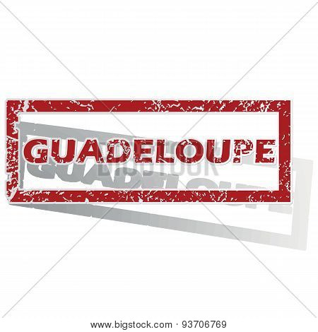Guadeloupe outlined stamp
