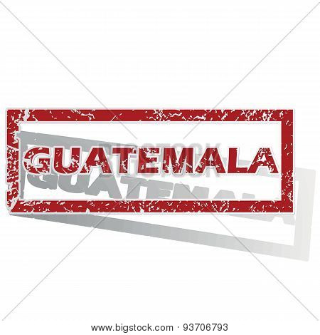 Guatemala outlined stamp