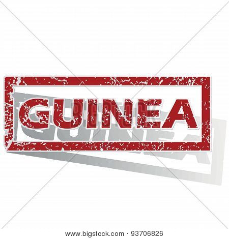Guinea outlined stamp