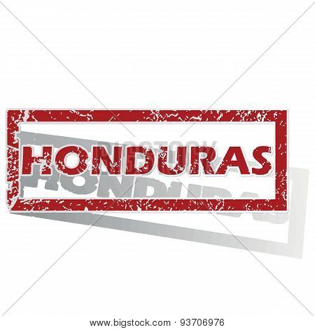 Honduras outlined stamp