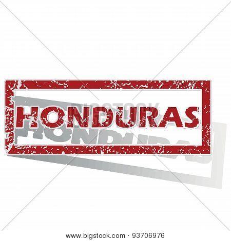 Honduras outlined stamp