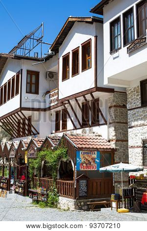 Traditional house with mehana restaurant in Melnik town, Bulgaria