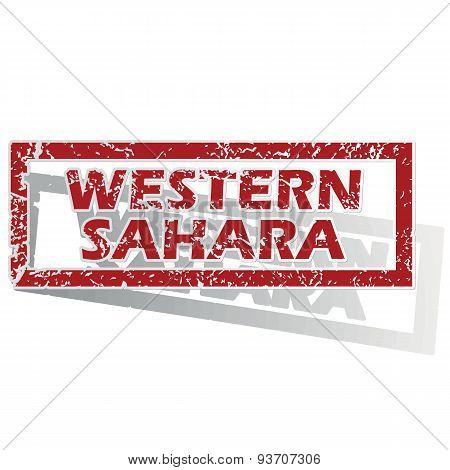 Western Sahara outlined stamp