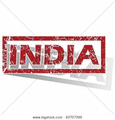 India outlined stamp