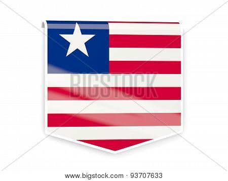 Flag Label Of Liberia