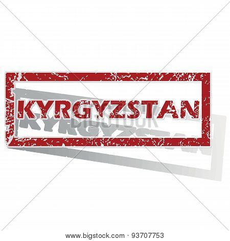 Kyrgyzstan outlined stamp