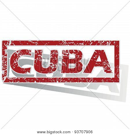 Cuba outlined stamp