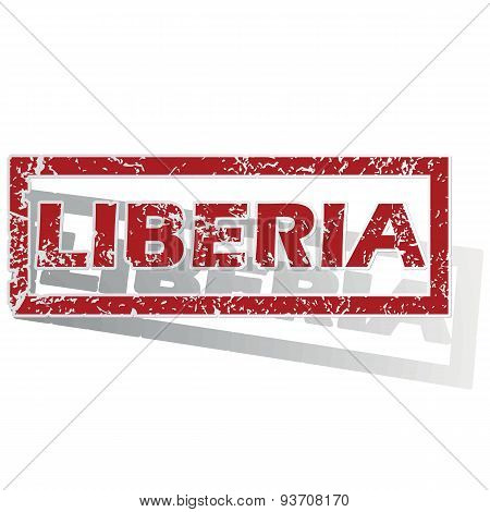 Liberia outlined stamp