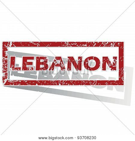 Lebanon outlined stamp