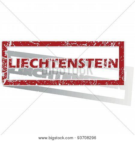 Liechtenstein outlined stamp