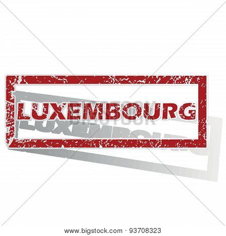 Luxembourg outlined stamp