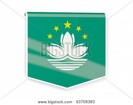 Flag Label Of Macao