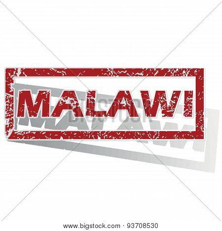 Malawi outlined stamp