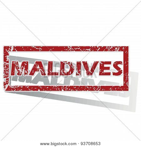 Maldives outlined stamp