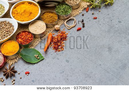 Spices And Herbs.food And Cuisine Ingredients.