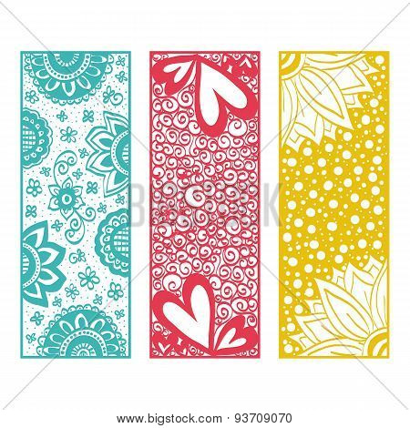 Floral Banners Zentangle