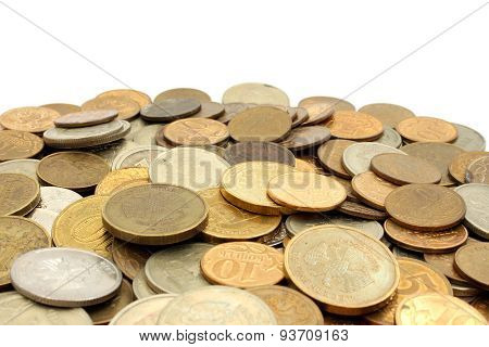 A Pile Of Coins Russian Rubles