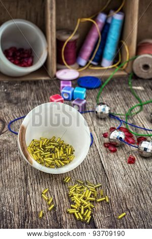 Set For Needlework Beaded