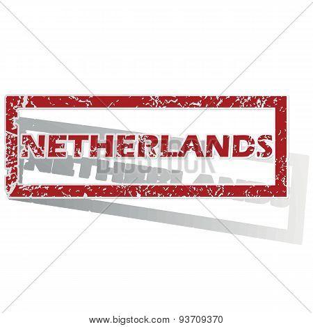 Netherlands outlined stamp